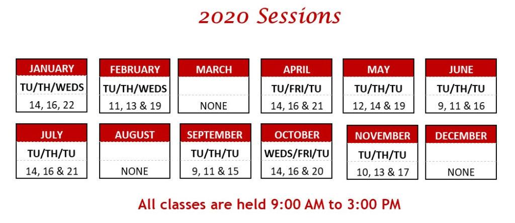 2020-tutor-training-schedule